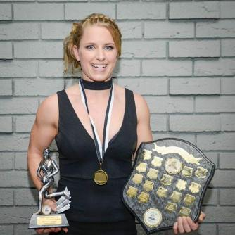2016 Wotton/Wynne Award (Senior Best and Fairest) winner, Jaimee Lambert